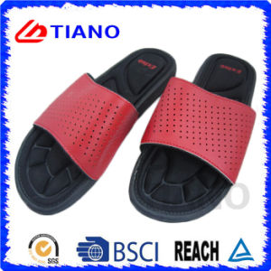 New Cool Comfortable Health EVA Slipper with Leather for Men (TNK35640) pictures & photos