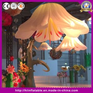 Lily Inflatable Flower Advertising Model Giant Artifical Flower for Wedding Party Valentine Event Decoration