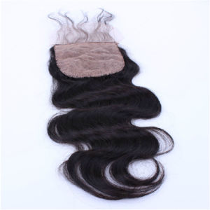 5X5 Lace Closure Malaysian Body Wave Human Hair Lace Closure Bleached Knots 7A Malaysian Virgin Hair pictures & photos