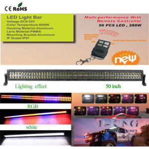 50inch 288W Remote Control RGB Epistar LED Bar Light pictures & photos