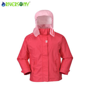 Children′s Outdoor Jacket, Attach Hood with Magic Tape pictures & photos