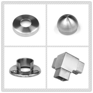 Stainless Steel Handrail Staircase Glass Fitting Base Plate pictures & photos