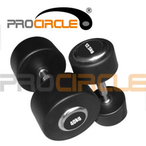 Crossfit Equipment Fixed Rubber Coated Dumbbell (PC-DU-3039) pictures & photos