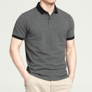 Wholesale 100% Cotton Embroidered Logo Men Custom Polo T Shirt pictures & photos