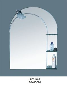 Glass Mirror with Glass Shelf with Lamp pictures & photos