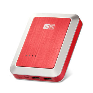 Double Output 8400mAh Portable Red Power Bank for Mobile Phone