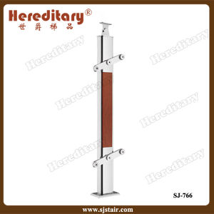 Hereditary Tempered Glass Stair Railing with Glass Clamp (SJ-766) pictures & photos