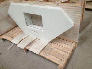 Engineered Stone White Quartz Vanity Top/Contertop (YYL) pictures & photos