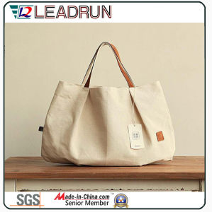 Gift Paper Nonwoven Shopping Bag Leather Cotton Canvas Handle Shopping Bag (X037) pictures & photos