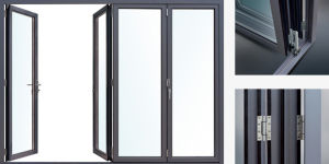 Luxury Class Heavy Duty Systems Aluminium Folding Door pictures & photos