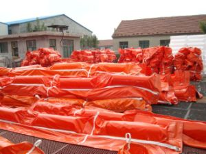 Inflatable Rubber Curtain Oil Boom, Oil Absorbent Boom pictures & photos