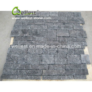 Natural Split Black/Beige/White/Blue Limestone Wall Pattern Tile and Corner pictures & photos