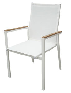Best Choices Outdoor Patio Powder Coated Aluminum Textilene Mesh Chairs Restaurant Furniture Stacking pictures & photos