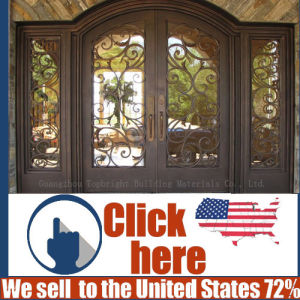 Cheap Price Steel Security Wrought Iron Door Gate pictures & photos