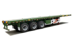 CCC ISO Approved 2 Axles Flatbed Semitrailer pictures & photos