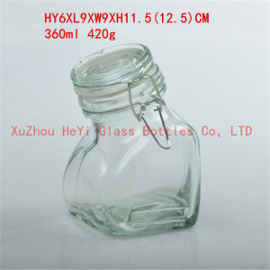 360ml Glass Food Jar Men Glass Jar with Cap