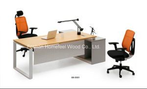 2015 Factory Customized Office Manager Table with Fix Cabinet (BS-D001) pictures & photos