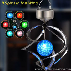 Solar Galaxy Wind Spinner Lamp for Garden Decoration (RS105) pictures & photos
