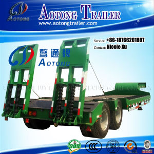 2016 New Type 3/4/5/6 Axles 50/80/100/150 Tons Low Flat Bed Semi Truck Trailer for Hot Sale with Strong Ramp pictures & photos