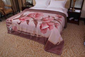 Raschel Mink Wool Blanket (MQ-RWB006) pictures & photos