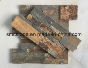 18*35cm Hot Sale China Natural Rusty Slate Stone Cladding pictures & photos