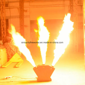 DJ Disco Night Club Triple Head DMX Stage Spray Fire Flame Projector Machine pictures & photos