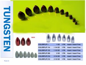 Customize Fishing Sinkers Tungsten Weights pictures & photos