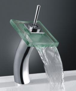 Chromed LED Basin Mixer, Single Handle Waterfall Basin Mixer