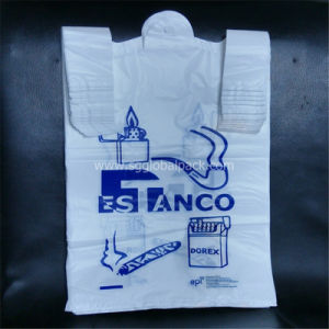 HDPE White Color T Shirt Vest Bags on Roll pictures & photos