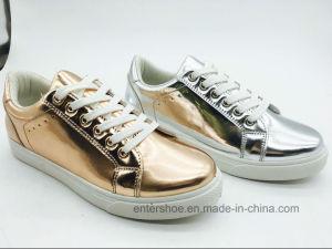Bright PU Casual Women Shoes (ET-JRX160395W) pictures & photos