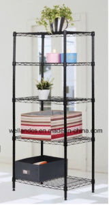 Assembly Adjustable Epoxy Wire Shelving Rack From Metal Furniture (LD7535120A4E) pictures & photos