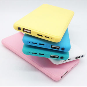 Slim Polymer Battery Portable 12000mAh Power Bank with LED Light pictures & photos