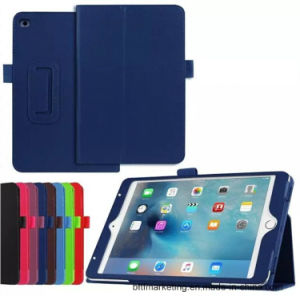 Slim Folding PU Leather Case Cover for Ipads Tablet (With Smart Cover Auto Wake / Sleep) pictures & photos