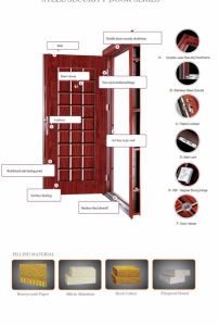 High Quality and New Design Steel Security Door pictures & photos