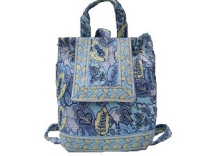 Floral Quilted Cotton Backpack (QUBP001C)