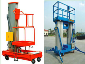 Mast Climbing Aluminum Electric Hydraulic Lift Ladder Elevated Work Plarform pictures & photos