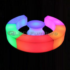 Colorful Cube Stool LED Light up Outdoor Furniture