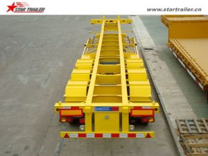 Tri-Axle 60ton Skeletal Trailer for Shipping Container pictures & photos
