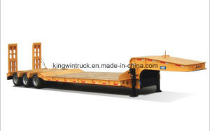 Cimc Brand Two Axles Low Bed Semi Trailer pictures & photos