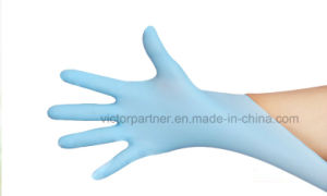 High Quality Disposable Nitrile Examination Gloves with Blue Color pictures & photos