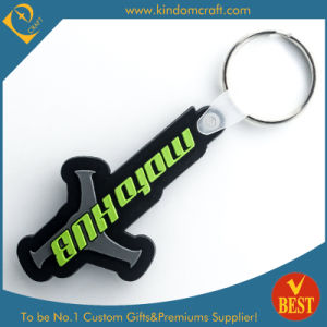 High Quality Customized Logo Cheap Promotional Rubber Key Chain From China pictures & photos