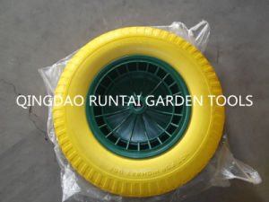 Popular Sale Good Quality Flat Free Rubber Wheel (4.00-8) pictures & photos