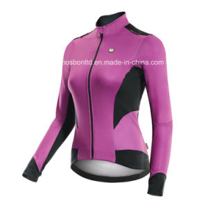 Women′s Cycling Jacket Wholesale Cycling Winter Jacket Fleece Thermal pictures & photos
