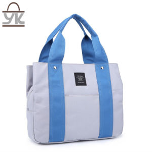 Fashion Leisure Contrast Color Canvas Women Handbag pictures & photos