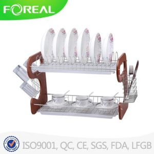 22 Inch Metal Wire Dish Rack with Mug Stand