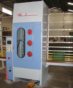 Automatic PLC Vertical Glass Sandblasting / Sandblast Machine pictures & photos