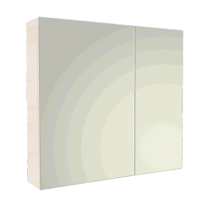 Bathroom Cabinet with Mirror Melamine Board