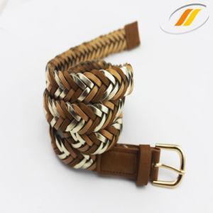 Hot Selling Women′s Spray Fake PU Leather Belt (HJ15050)