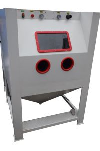 Dustless Blasting Machine for Aluminum Alloy Car Wheels pictures & photos