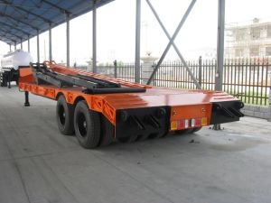 2-Line 4-Axle Low Bed Semi Trailer-60t